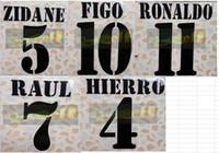 2000-2003 Retro Zidane Figo Ronaldo Raul Hierro Name Numaralandırma Numares Soccer Yama Futbol Rozeti