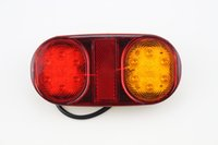 brake light 1pair IP65 14 leds 10- 30v 12V oval car LED Carav...