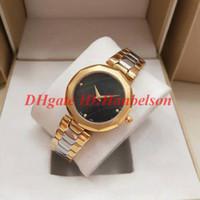 Новые Все стальные Розовые Золотые Дамы Часы Hidia Мода Кварцевые Движение Две руки Женские Наручные Часы 36 мм Монтр-де-Люкс Налейте Femmes