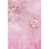 Baby Shower Pink Floral Hintergrund gedruckt Blumen Neugeborenen Fotografie Requisiten Kinder Kinder Mädchen Foto Shoot Backdrops für Studio