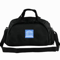 вещевой мешок ЮНЕСКО по вопросам образования Организация флага тотализатор ONUESC 2 способа использовать рюкзак Баннер багажа Поездка плечо вещевого Спорт строп пакет