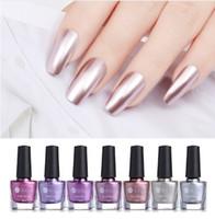 Prego 6 ml Espelho efeito metálico polonês Purple Rose Gold Silver Chrome Nail Art Verniz para unhas Manicure Lacquer