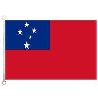 Samoa-Flagge, 90 * 150cm, 100% Polyester, Banner, Digitaldruck