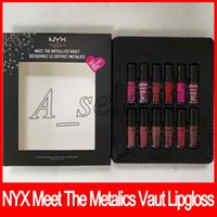 2018 Newest NYX Lipgloss meet the metallics vault soft matte...