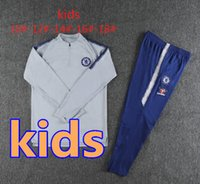 18 19 GEFAHR Kinder Trainingsanzug Fußball Set Survetement 2018 2019 KANTE DIEGO COSTA FABREGAS DAVID LUIZ Kinderjunge Fußballjacke Trainingsanzug