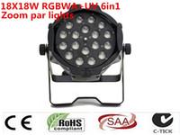 2 pz / luce DMX luci dj par 64 rgbwa uv 6in1 par zoom w loto 18x18 dj parti discoteca başına par luce açtı