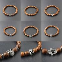 haute qualité Bouddha tête de perles bracelet Mara perles de perles naturelles en bois perles bracelets hommes bracelets libre navire