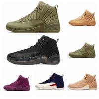 Yüksek Kalite 12 s erkek basketbol ayakkabı yeni basketbol ayakkabı 2018 12 Bordo Koyu Gri Grip Oyunu 12 s Womens Eğitmenler Zapatos