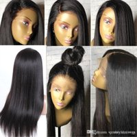 Pre Plucked Silk Long Straight Full Lace Human Hair Lace Wig...