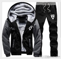 Winter Autumnmen Sweat Suits Fleece Warm Mens Tuta Set Casual Tute da jogging Tute sportive Cool giacca Pantaloni e felpa Set Free Sh