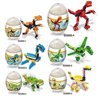 Dinosaur Building Blocks cartoon Bricks Oeufs de dinosaure Mini-figurines Jouets pour enfants C4569