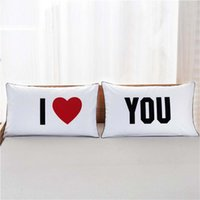 Pillow Case Her And His Side Pillow Case Covers Romantic Val...