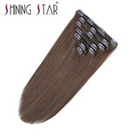 4# clips hair weight 120g Non- remy shining star low price cl...