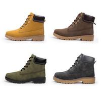 Новая мода мужская лодыжка базовый контрастный воротник ботинок водонепроницаемый ботинок мужчин женщин кожаные сапоги на открытом воздухе 4 цвета EUR 36-46