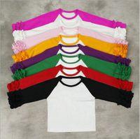 Девушки трепал реглан футболка Рождество Детские футболки дети печати с длинным рукавом рубашки мода повседневная топы тис дети бутик одежда YL403-1