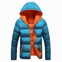 Zipper slim men parka outwear warm men winter jacket male clothing 2018 new casual hooded thick padded jacket coat