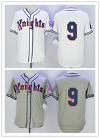 Men' s stitched Roy Hobbs Jersey #9 New York Knights The...
