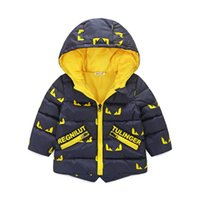 2018 Winter New Baby Boy and Girl Clothes, Giacche calde per bambini, Kids Sports Capispalla con cappuccio 3 colori