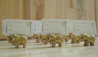 50 pcs or or éléphant chanceux place titulaire de la carte titulaires nom table place mariage faveur cadeau faveurs de fête unique
