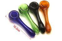 Colorato Steamrollers tubi in vetro a mano in vetro colorato fumatori Steamrollers tubi mano Lab tubi del tabacco da fumo con ciotola