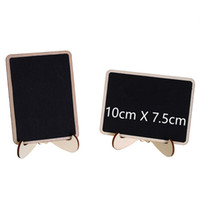 Mini Chalkboard Tabletop Signs with Easel Stand Wood Blackbo...