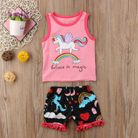 Girls Clothes 2018 New Arrival Summer Kids Baby Girls Rainbo...
