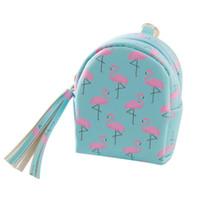 Hot donne sveglie mini borsa della moneta sacchetto chiavi sacchetto di carta carino donne fenicottero mini moneta portafoglio organizer chiavi pouch regali a30