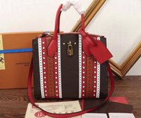 AAA Women City Steamer MM M43493 Momogram Canvas Totes Cowhi...