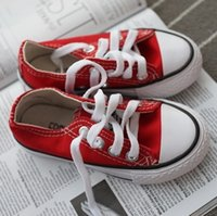 EUR size 24- 34 New brand kids canvas shoes fashion high - lo...