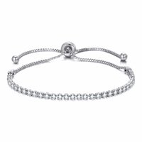 Europe Fashion Women Rhinestone Cubic Zirconia Bracelet Fash...