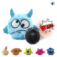 Interativo Plush Squeaky Dog Toys Louco Bouncer Movimento eletrônico Pet Toy para Prevenir Boredom Cães Brinquedo Exercício Animais Giggle Bola Automática