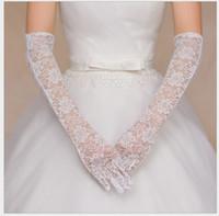 luvas de noiva, todo o laço tem um longo trecho de 5 dedos, luvas de casamento da noiva, fabricante atacado, com branco, vermelho e preto t