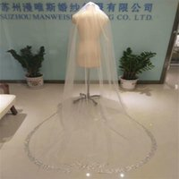 Sparkling Luxury Real Image Wedding Veils Rhinestone Edge 3 ...