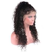 Front de dentelle perruques 150% densité bouclés dentelle avant perruques de cheveux humains pour les femmes noires Brésilienne vague d'eau avant de lacet perruques de cheveux humains