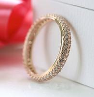 Anéis de ouro rosa para as mulheres originais de prata se encaixa para o estilo jóias pandora Inspiração Dentro de 180909CZ H8ale H8