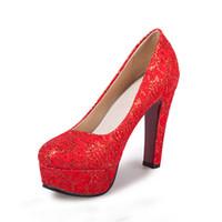ffd95999ab83 Arbeiten Sie sexy große Größen-Superhohen absatzschuhe wasserdichte  handgemachte Schuhe der Tabelle um