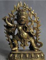 "gratis 6 ""tibet buddismo bronzo dorato Vajra King Kong Esorcismo Mahakala statua del dio buddha veloce"