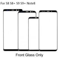 10Pcs / lot Замена внешнего стеклянного объектива для Samsung S8 G950 / G955 / S9 G960 / G965 / Note8 N950 Дисплей с сенсорным экраном переднего стекла