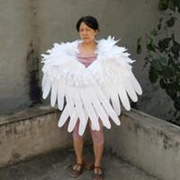 ailes d'ange en plumes blanches et douces de haute qualité aile Black Devil pour Wedding Party pour enfants cosplay jeu jour des accessoires de tir déco ailes