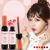 New Arrival 6 colors Red Wine Bottle Matte lip tint Lip Glos...