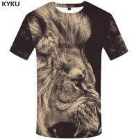 KYKU Лев футболка животных плюс размер дизайн одежды футболка Футболка одежда Мужская мужская хип-хоп высокое качество Homme