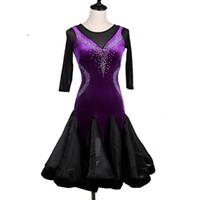 2018 настроить черный латинский танец костюмы для женщин латино платье румба танец платья современные танцевальные костюмы женщины Латинская сальса платье