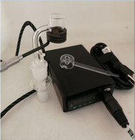 Кварц Enail e-Nail комплекты электронных dabbing PID TC dabber box женский 14 мм 18 мм 2 в 1 сосиски для стекла бонг E-nail Dnail