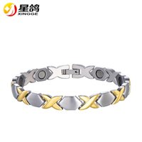 Top quality silver&gold color Stainless Steel Chain Magnetic...