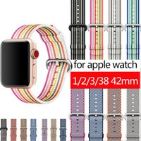 for Apple Watch Series 3 2 1 Fabric- like Feel Watch Band 42 ...