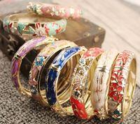 12pcs / lot 믹스 스타일 여성 DIY 패션 쥬얼리 선물에 대 한 여러 가지 빛깔의 합금 팔찌 팔찌 CR023 무료 shipp