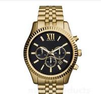 Lexington Chronograph Gold-Tone Black Dial Herrenuhr M8280 M8281 M8286 M8313 M8319 M8320 M8405 + Originalbox + Groß- und Kleinhandel
