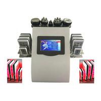Freies Verschiffen Hohe Qualität 40k Ultraschall Fettabsaugung Kavitation 8 Pads Fett Laser abnehmen Maschine Vakuum RF Hautpflege-Laser