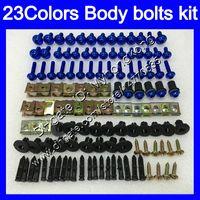 Fairing Bolts Full skruvkit för Honda VFR400RR 94 95 96 97 98 NC35 VFR400 RR 1994 1995 1996 97 1998 Kroppsnötter Skruvar Mutter Bolt Kit 25Colors