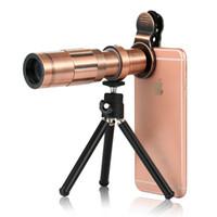 Profesyonel Cep Telefonu 20x Zoom Optik Teleskop Evrensel Klip 20X Kamera Telefoto Lens Tripod ile iPhone Samsung Huawei Için